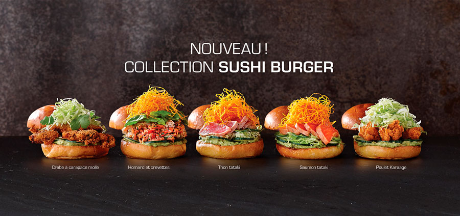 La burger collection di Sushi Shop